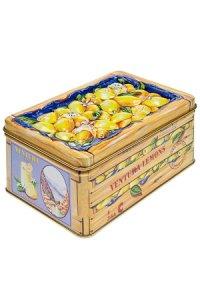 Metalldose mit Relief Zitronen