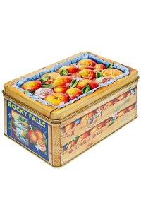 Metalldose mit Relief Orangen
