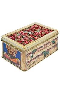 Metalldose mit Relief Erdbeeren