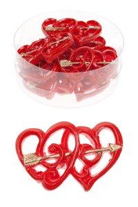 Miniatur zum Aufkleben Herzen mit Pfeil - 8er Pack