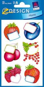 Schmucketiketten Früchte mit Schildchen