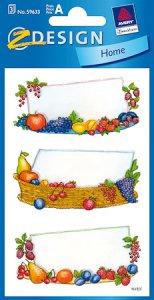 Schmucketiketten Obstdekor