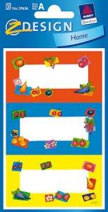 Schmucketiketten Pop-Art-Früchte