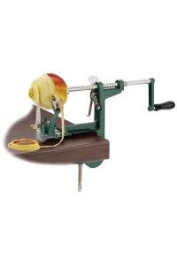 Apfelschälmaschine mit Schraubzwinge