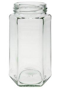 Sechseckglas 385 ml