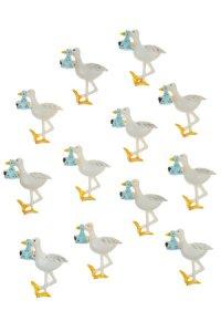 Miniatur zum Aufkleben Storch - 12er Pack