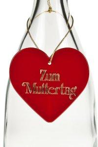 Anhänger Zum Muttertag Herz rot