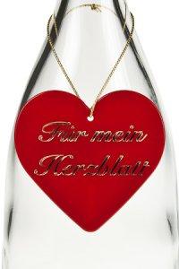 Anhänger Für mein Herzblatt Herz rot