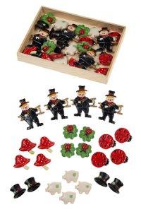 Miniaturen zum Aufkleben Glücksbringer - 24er Pack