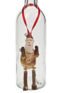 Anhänger Weihnachtsmann aus Holz, handgemacht