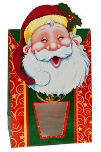 Sichtfenstertasche Weihnachtsmann