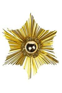 Deko-Aufkleber Glitzerstern gold