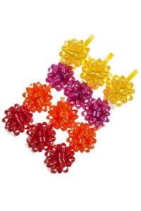Schleifen farbig - 12er Set