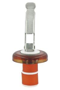 Universal-Flaschenverschluss transparent kupfer