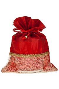 Geschenktasche rot, 15 x 21 cm