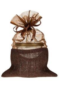 Geschenktasche braun, 16 x 24 cm