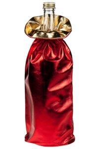 Geschenktasche rot metallic, 16 x 34 cm