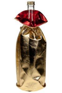 Geschenktasche gold metallic, 16 x 34 cm