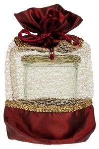 Geschenktasche bordeaux, 15 x 24 cm