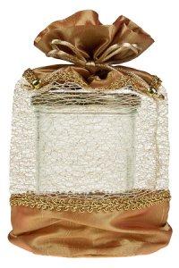 Geschenktasche gold, 15 x 24 cm