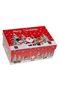 Geschenkbox Weihnachtsmotive mittel