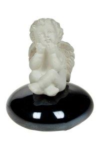 Miniatur zum Aufkleben Engel auf Glasstein