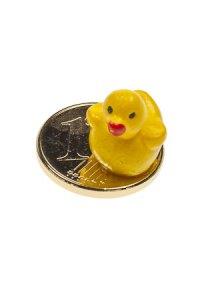 Vergoldeter Cent zum Aufkleben Entchen