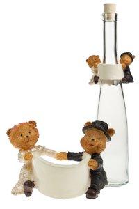 Hochzeits-Flaschendeko zum Beschriften