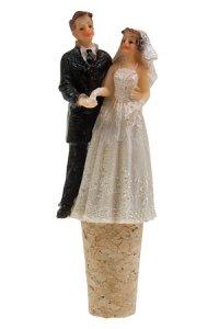 Flaschenkorken Brautpaar