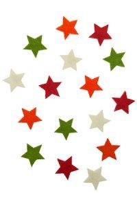 Filz-Sticker Sterne klein - 16er Pack