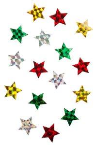 Filz-Sticker Glimmer-Sterne klein - 16er Pack