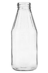 Weithalsflasche  500 ml mit Facetten