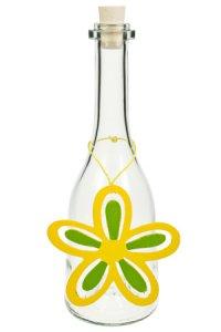 Anhänger Blume Holz gelb/grün A