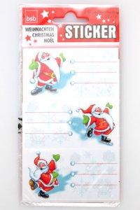 Weihnachtsetiketten Weihnachtsmann