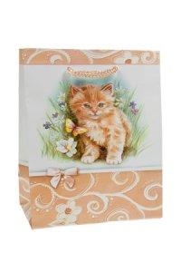 Geschenktasche Kätzchen mit Schmetterling klein
