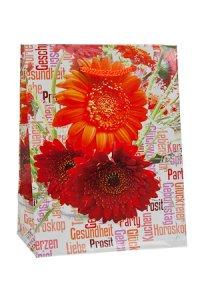 Geschenktasche Gerbera, 11 x 6 x 13,5 cm