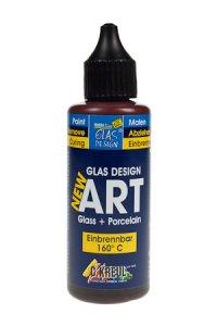Glas Design New Art rehbraun