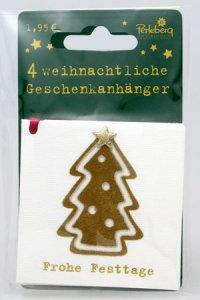 Weihnachtsanhänger - Weihnachtsbaum (VIERERPACK)