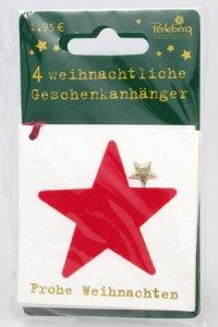 Weihnachtsanhänger - Stern (VIERERPACK)