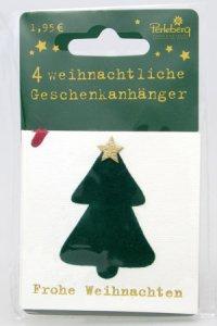 Weihnachtsanhänger - Tannenbaum (VIERERPACK)
