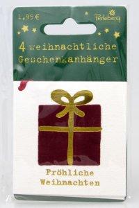 Weihnachtsanhänger - Geschenk (VIERERPACK)