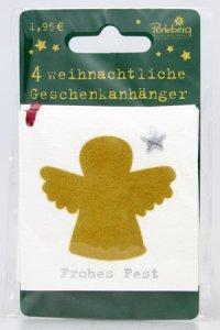 Weihnachtsanhänger - Engel (VIERERPACK)