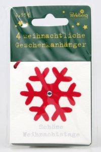 Weihnachtsanhänger - Schneeflocke (VIERERPACK)