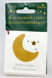 Weihnachtsanhänger - Mond (VIERERPACK)