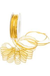 Ziehschleifenband 25 m Venedig goldgelb