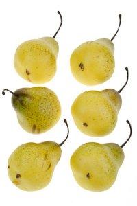 Deko-Obst Birne - 6er Pack
