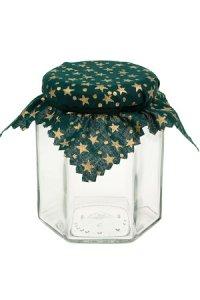 Deckchen 150 mm grün mit goldenen Sternen