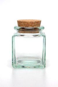 Korkenglas   40 ml quadratisch
