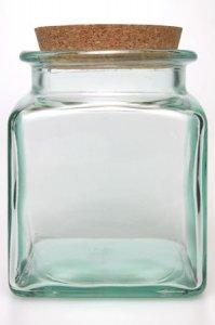 Korkenglas 1500 ml quadratisch
