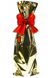 Flaschenbeutel gold 18 x 50 cm - 50er Pack